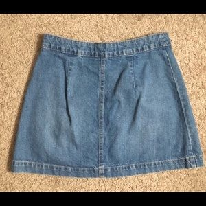 H&M Skirts - H&M button up jean skirt size 8